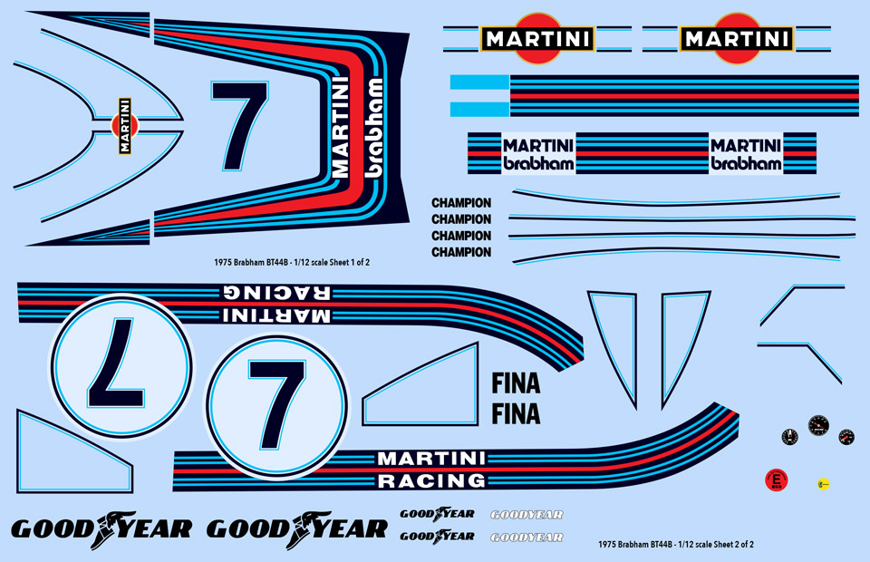 1975 Martini Brabham BT44B decals