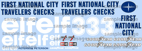 1977 Tyrrell First National City Traveler's Checks decals