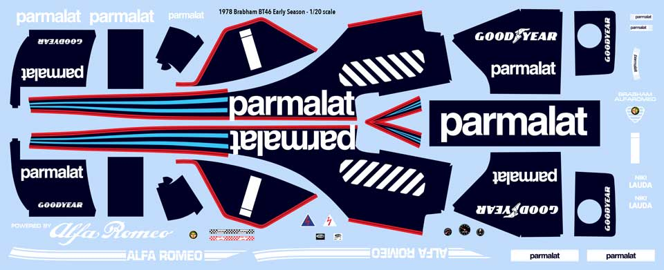 1978 Brabham BT46 decals